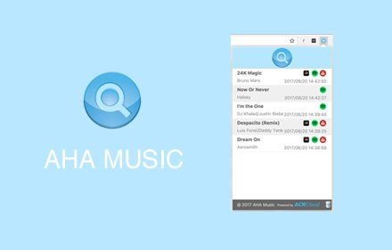 AHA Music Song Finder for Browser – 自动识别当前正在播放的音乐