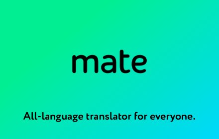 Mate Translate – translator, dictionary – 可满足你的所有翻译需求!